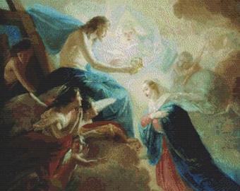 Crowning the Virgin PDF Cross Stitch Pattern
