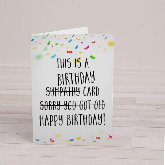 Funny Birthday Card Rude Birthday Card By SplendidStreetPress