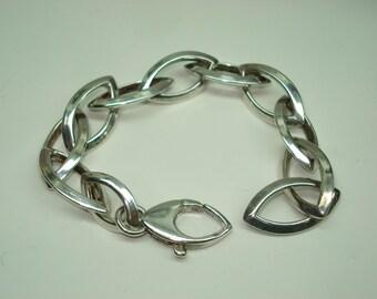 Sterling Silver Large Oval Link Chain Bracelet