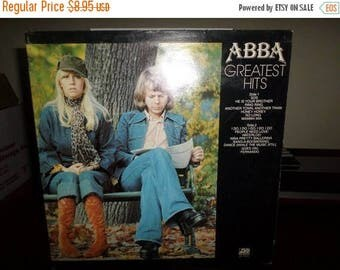 Save 30% Today Vintage 1977 LP Record Abba Greatest Hits Excellent Condition Atlantic Records 7589