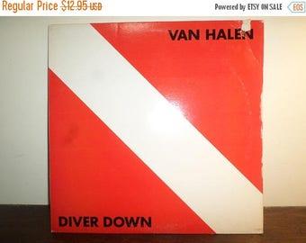 Save 30% Today Vintage 1982 LP Vinyl Record Van Halen Diver Down Warner Brothers Records Very Good Condition 10969