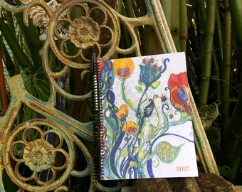 Boho Student Planner, Gypsy Art, Colorful Agenda, Bohemian Art on every page