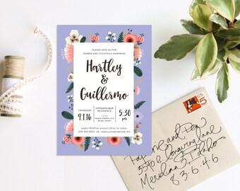 Floral Poppy Wedding Invitation