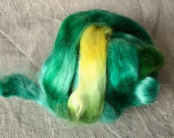 Kid mohair roving top 29, to the spinning and felting