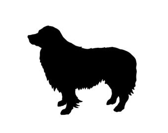 Border Collie Silhouette Vinyl Decal for laptops car truck windows crafts