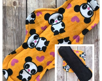 "Panda Flannel 12"" Cloth Menstrual Pad - Mama Cloth"