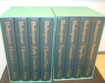 Set of 8 The Complete Plays of William Shakespeare. Folio Society, with Slipcases