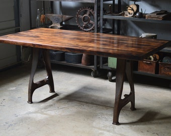 Industrial Reclaimed Maple Table   ***Local Pickup Only***