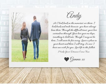 Husband * Wife Remembrance Personalised Ceramic Plaque