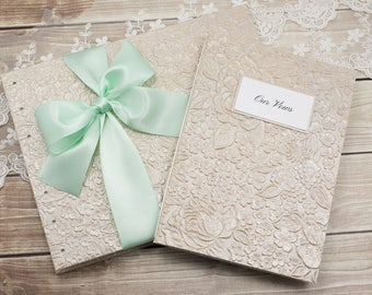 Wedding Guest Book & Vows Booklet, Taupe Guest Book, Guest Book Wedding, Instant Photo, Guest Book, Photo Guest Book, Made to Order