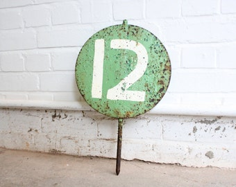 Vintage Cast Iron Number Marker 12