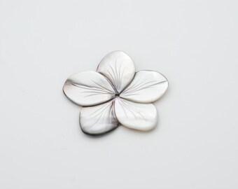 37mm Black Flower shape Mother of Pearl