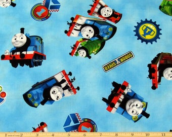 Thomas the Train Fabric Steam Team Blue Fabric From Quilting Treasures