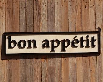 Bon Appetit Kitchen Remodeling Kitchen Wooden Sign Farmhouse Decor Sign Farmhouse Sign Decor Kitchen Decor Kitchen Signage White Farmhouse