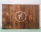 Vine - Hand painted Wood Sign- Vintage Wedding Guest Book