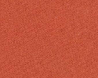 1/2 Yard - Bella Solids - Moda Classic - Betty Orange - Moda - Fabric Yardage - 9900 124