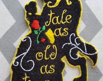 Belle Princess Beauty and The Beast Iron on No Sew Embroidered Patch Applique