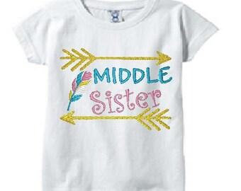 Personalized Sibling Shirts/Family Matching Shirts/Arrows Toddler T-Shirt/Sibling Sister Tee/Middle Sister Shirt/Toddler T-Shirt/Arrows/Girl