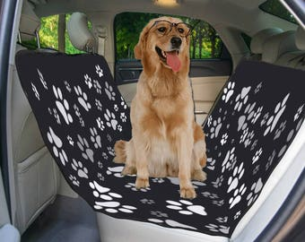 Paw Print Dog Pad Black Dog Pad Printed Dog Pad Dog Paw Print Dog Pad Waterproof Reusable Pad Unique Dog Pads Custom Print Dog Pad 55x43
