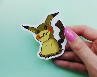 Pokemon stickers, pack of 5, Cosgmog, Mimikyu, Torchic, Mudkip, Treeko, cute