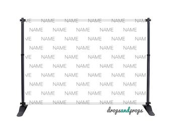 Custom Name - Photography Backdrop