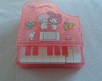 Vintage Sanrio My Melody piano stationery, trinket case with memo sheets and pen