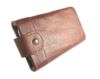 "Cowhide mobilebag Iphone case leather Ipodbag Iphone bag leather case mobile customized cellphone bag ""Paul"""
