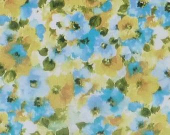 London Calling 6~Cornflower Cotton Fabric, Clothing, Quilt, Soft Robert Kaufman, Fast Shipping, F576
