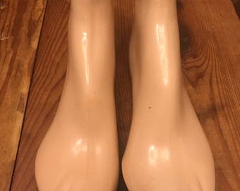 Set of Two Department Store Mannequin Foot Forms