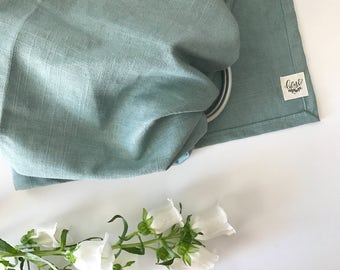 Dusk | Ring Sling in Linen Blend with Silver Rings