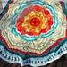 Mandala Crochet Blanket. Handmade Afghan. Full/Twin Bedspread. Knit Chunky Woven Throw Rug. Ready to Ship. Big 6.8' diameter