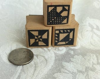 Set of three geometric stamp by Graven images, geometric stamps, Quilt Block Stamps, Quilt Block rubber stamps, Country stamp, Background