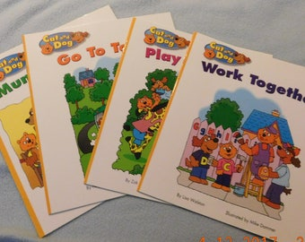 4 Cat and Dog Kindergarten Reading Books