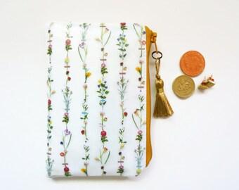 Waterproof flower stems Coin purse/card holder/business card/floral