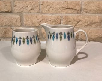 Vintage Carefree True China by Syracuse Nordic Cream and Sugar Set