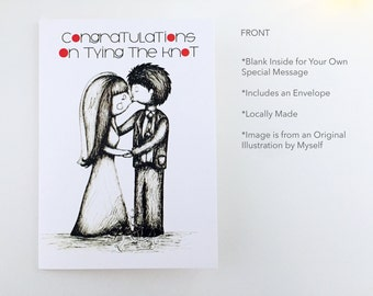 Greeting Card, Wedding Card, Tie the Knot 2
