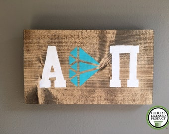 Alpha Delta Pi  handmade wood sign outline diamond sorority A D Pi ADPi Officially Licensed