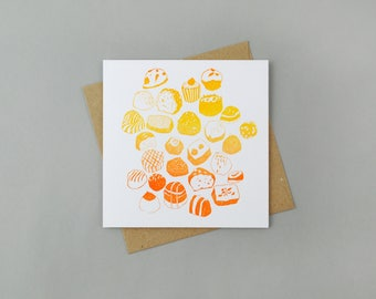 Limited Edition Letterpress Card 'Chocolates'