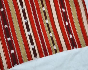 Red Wine Ikat (#53) Fabric  from Guatemala  (THICK) - 100% Cotton - Sold by yard
