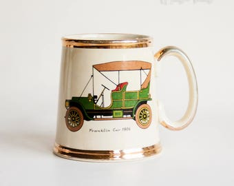 Vintage 50s GIBSON Ceramic Classic FRANKLIN 1906 Car Mug Automobilia