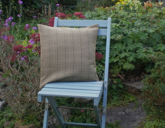 Country Tweed Cushion Cover- Check
