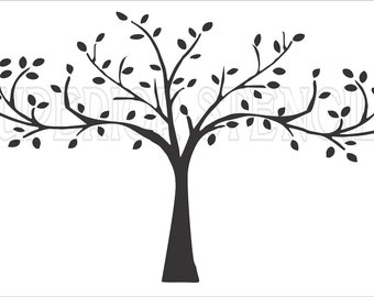 Family Tree Custom REUSABLE STENCIL TREE 6 Sizes
