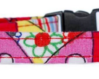 Noddy & Sweets Adjustable Cat Collar with bell and charm [Camper Van - red]