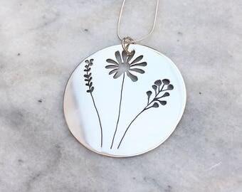 Wild Flowers Necklace/ Brooch