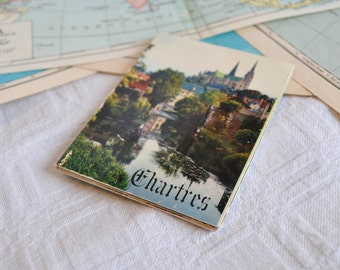 "Block of vintage cards ""Cathédrale de Chartres"""