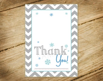 Oh Baby Its Cold Outside Baby Shower Matching Foldable Thank You Card