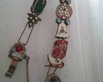 Beautiful all metal Christmas bracelet