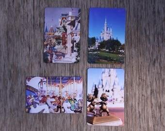 Set of 4 refrigerator magnets, disney photography, photo magnet, home decor, WDW, Disney World
