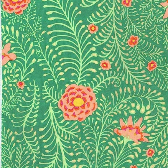 FERNS Green Kaffe Fassett Sold in 1/2 yd increments