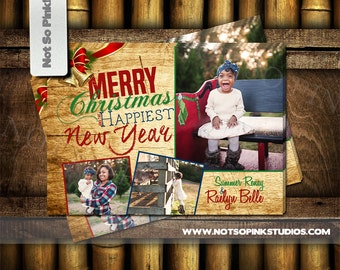 Christmas Ornament Holiday Greeting with Photo